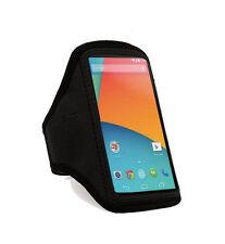 Fascia braccio Sport per Google Nexus 4 e 5 bracciale Armband fitness corsa Nera