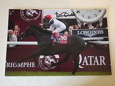 Frankie Dettori signed 12x8 Horse Racing Arc De Triomphe 2015 Golden Horn Photo