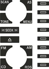 Set of Stickers to repair the buttons on your Audi A2/A3/A4/A6 Concert CD player