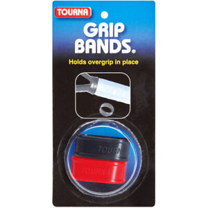 Tourna GRIP BANDS - Pack of 2 - Black/Red