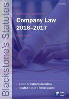 Blackstone's Statutes on Company Law 2016-2017