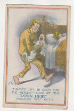 Married Life Is Good For The Health 1916 Comic Postcard 729b