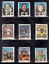 1971 EDDIE SARGENT CFL FOOTBALL PARTIAL SET LOT OF 18 WAYNE SHAW JERRY KEELING +