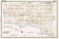 1912, CHARLES E. GOAD, VANCOUVER, CANADA, ENGLISH BAY, COPY PLAT ATLAS MAP