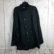 Absolute Chef Wear Unisex 2Xl Restaurant Black Chef Coat