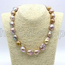 """REAL HUGE AAA SOUTH SEA Purple BAROQUE PEARL NECKLACE 18"""""""