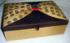 Embroidered Jewellery Box 8x20x15cm with internal lift out ring tray.