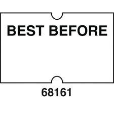 "Hubert ""Best Before"" Labels For Hubert One Line Pricing Gun - 21mm L x 13mm H"