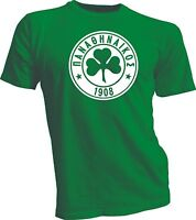 "Panathinaikos F.C.Greece Football Soccer T Shirt Men""s Tee Jersey Green Futbol"