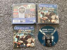 STAR WARS EPISODE I 1 JEDI POWER BATTLES SEGA DREAMCAST GAME WITH MANUAL UK PAL