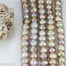 Natural rare 16-18mm Huge Multicolor Baroque Pearl Loose Bead 15'' AAA