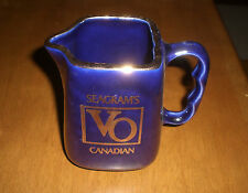SEAGRAM'S VO CANADIAN WHISKEY WATER PITCHER