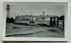 Vintage Photo Snapshot Baltimore Transit Co Trolley Streetcar #6040 turnaround
