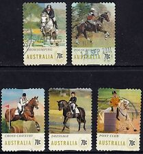Australia 2014 Equestrian Events Complete Set of Stamps P Used Ex Self Adh