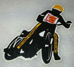 UK SPEEDWAY GOLDEN HELMET EVENT STICKER MOTOR CYCLE NEWS 1970's/80's