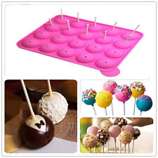 20-Silicone Creating Lollipops Cake Pop Chocolate Truffle Tray Pan Mould Mold