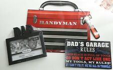 Dad's Garage Wooden Plaque, Picture Frame & Tool Box Gift Bag Father's Day Set