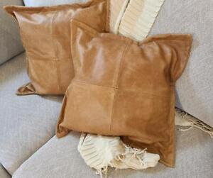 Genuine Soft Real Lambskin Leather Throw Pillow Cushion Cover Handmade All sizes