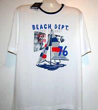 Paul & Shark AUTHENTIC Men's White Logo Italy Cotton T-Shirt Shirt Sz L $199