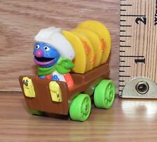 "Vintage Muppets 1987 Sesame Street ""Grover"" Western Wagon Toy Only *Read*"