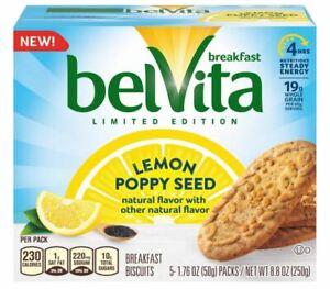 (1) belVita LEMON POPPY SEED Breakfast Energy (20-Biscuits per box) *BB 12/2021*