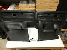BMW E30 Coupe Front & Rear Door Cards (Black)