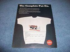 1969 Coca Cola National Thirst Eliminator Shirt Offer Ad Drag Racing