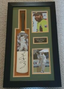 Pakistan Cricket Legendary Batsman INZAMAM-ul-HAQ Signed Bat Frame