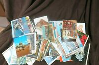 Lot of Over 80 Vintage Post Cards US International Jerusalem Paris Times Sq 1945