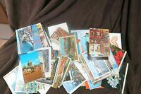 Lot of Over 80 Vintage Post Cards US International Jerusalem Paris Times Sq 1945