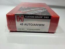 Hornady Custom Grade 45 Auto Die Set 546554 - New - Sealed