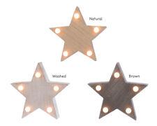 LED STAR Light Wooden STAR Shape Nite Lite Bedside Light Lamp Battery Powered