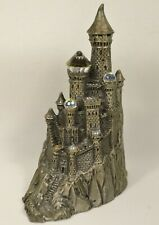 "Vintage 1987 Perth Pewter Castle Sculpture 3.5"" Tall by Ray Lamb Rare"
