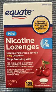 EQUATE Mini Nicotine Lozenges 2mg Cherry Ice 108 Lozenges Exp:09/2022