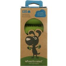 Earth Rated Unscented 120 Pcs - Biodegradable Dog Waste Bags Poo Poop Bags