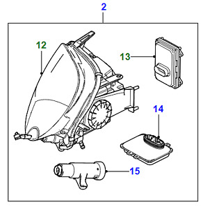 C2P14611 - XK RHS HEAD LAMP