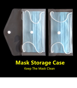 FACE MASK STORAGE CASE BAG CARRIER POUCH PROTECTOR WALLET BABY KIDS ADULTS CHILD