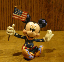 """Jim Shore Disney Traditions Minis #4056743 MICKEY MOUSE w/ Flag, Patriotic, 3.5"""""""