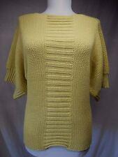 St John Tunic Sweater Sz XS S Thick Knit Dolman 3/4 Sleeves Solid Yellow VEUC