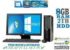 Complet Dell / HP Coeur i5 Ou Corei3 Tour Bureau Pc&lcd WIN10 &16GB 3TB 240GB