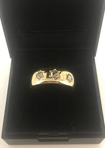 18ct Yellow Gold Diamond Gypsy Ring, UK Size P 1/2, EU Size 56 1/2, 6.4 Grams