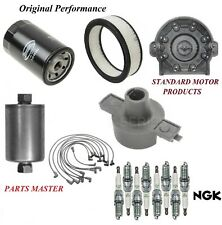 Tune Up Kit Filters Cap Spark Plugs Wire For Chevy Tahoe V8 5.7L; Tbi; 4Wd 1995