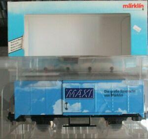 New Marklin Maxi 1 G Scale 5484 MAXI Blue Boxcar NIB