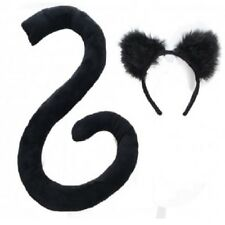 Cat Ears and Long Tail Set Black by Underwraps Teen Adult
