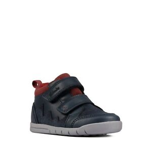 New Clarks Rex Park T Boys Infant Boots Baby Toddler First Shoes Walking 4F