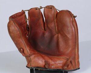 Vintage Old Three Finger Baseball Glove 1950's Cooper Weeks RARE