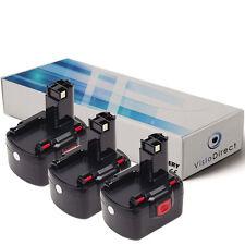 Lot de X3 batteries 12V 3000mAh pour BOSCH GSR12-2 - Société Française -