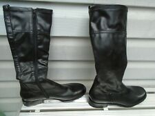 Franco Sarto Black Vegan Faux Leather Women's Boots Size 9M New without Box