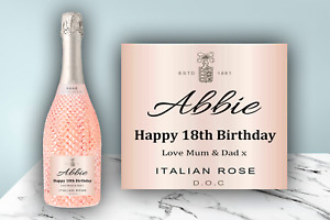 Personalised Prosecco Labels Champagne Birthday Celebration Gift Sticker
