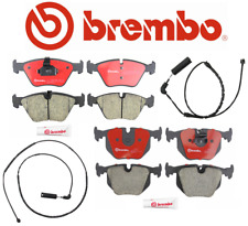 Front Brake Pads & Rear Brake Pads Set Ceramic Brembo + Sensors BMW E46